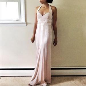 NWT Niteline halter blush pink evening gown 215A
